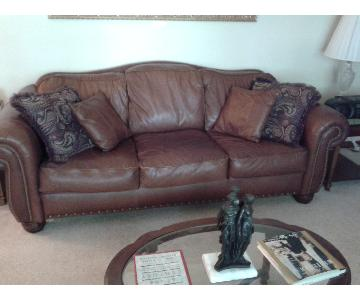 Lazy Boy Leather Three Seat Sofa