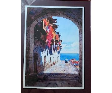 Okeef The Paracel Water Color Print