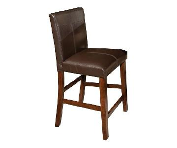 Kaplans Furniture Brown Leather Bar Stools