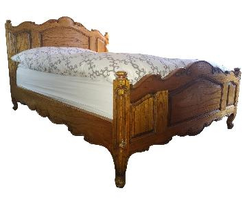 Antique Solid Wood Queen Size Bed