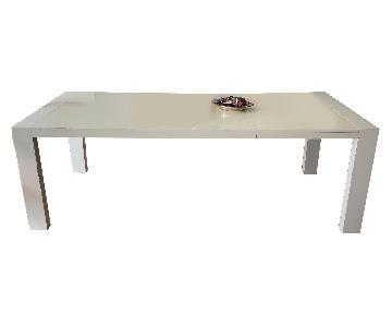 Calligaris White Lacquer Table
