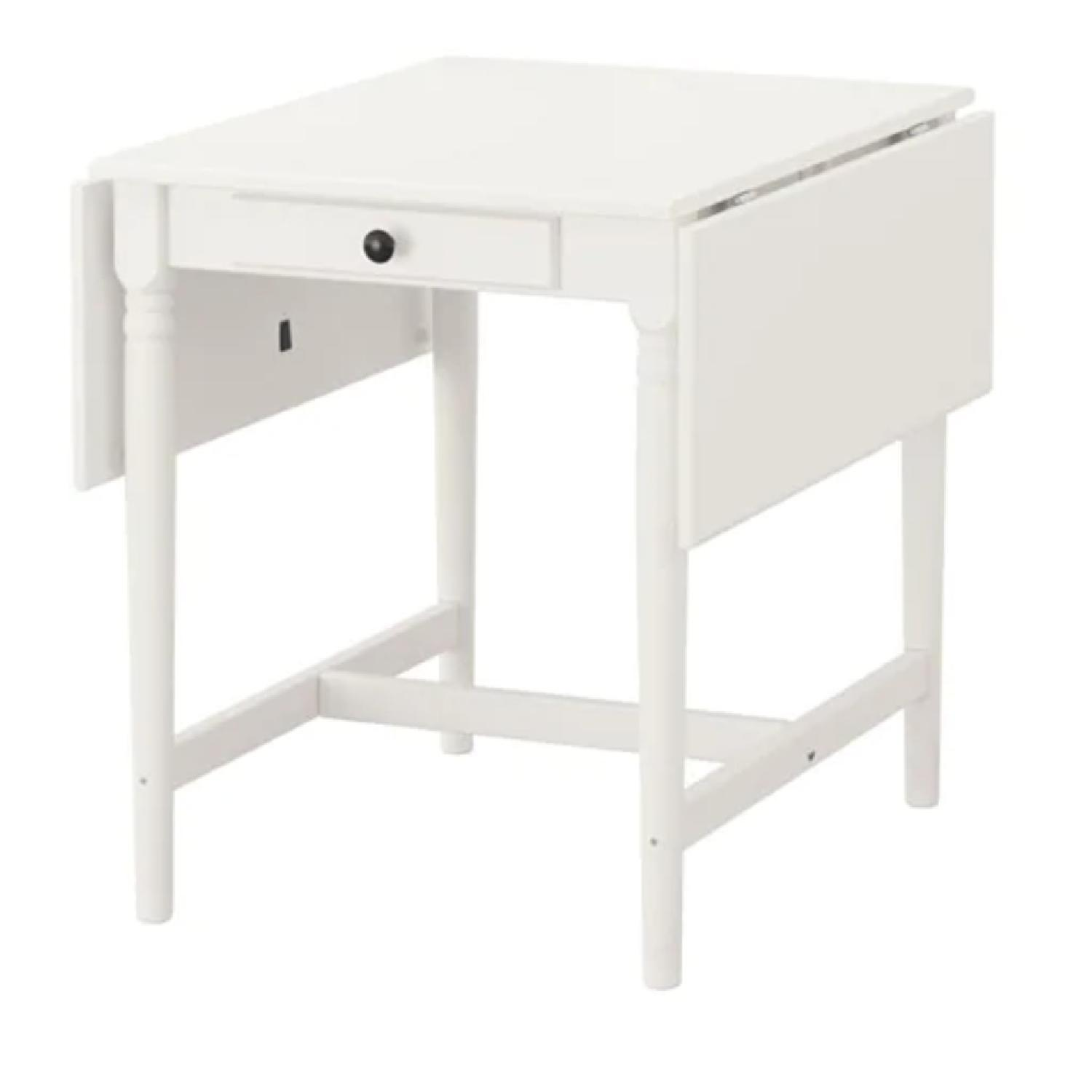 Ikea Ingatorp Drop-Leaf Dining Table