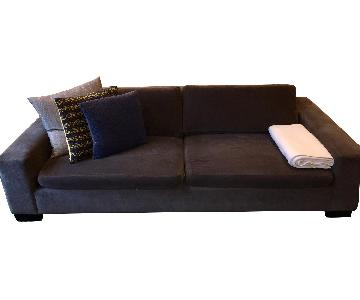 Room & Board Grey Microfiber Sofa