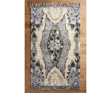 Anthropologie Stretched Ikat Rug