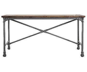 Restoration Hardware Flatiron Desk in Natural Elm/Zinc