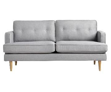 World Market Mid-Century Gray Sofa