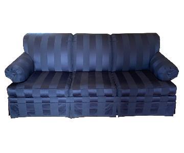 Ethan Allen Dark Blue Sleeper Sofa