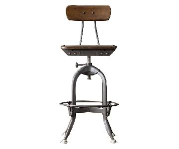 Restoration Hardware Mini Vintage Toledo Stool in Steel