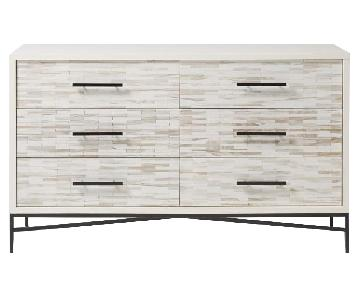 West Elm Wood Tiled 6-Drawer Dresser