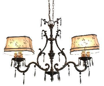 American Brass Chateau Chandelier w/ Swarovski Crystal