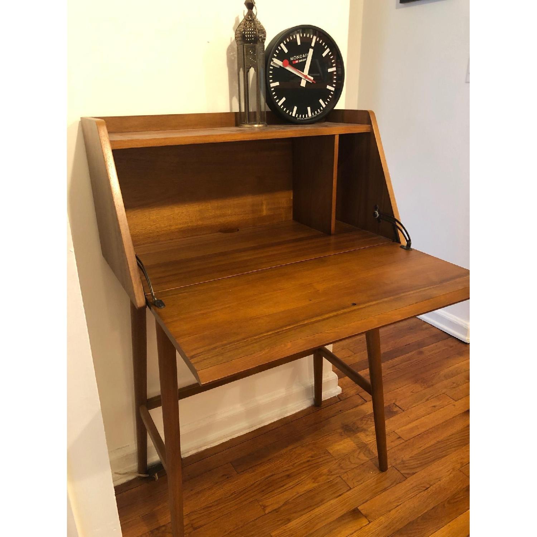 Picture of: West Elm Mid Century Mini Secretary Desk Aptdeco