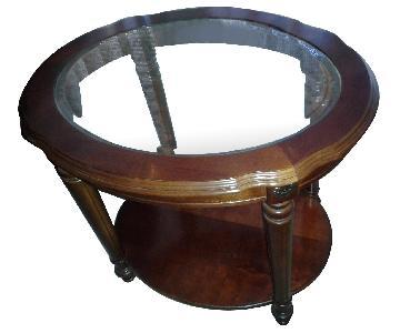 La-Z-Boy Oval Glass End Table