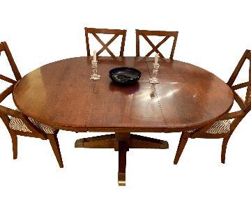 Ethan Allen Oval 7-Piece Dining Set