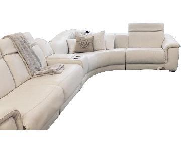Natuzzi Editions Abele 5-Piece Reclining Sectional Sofa