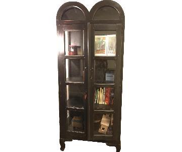 Vintage Style Bookshelf w/ Glass Panels