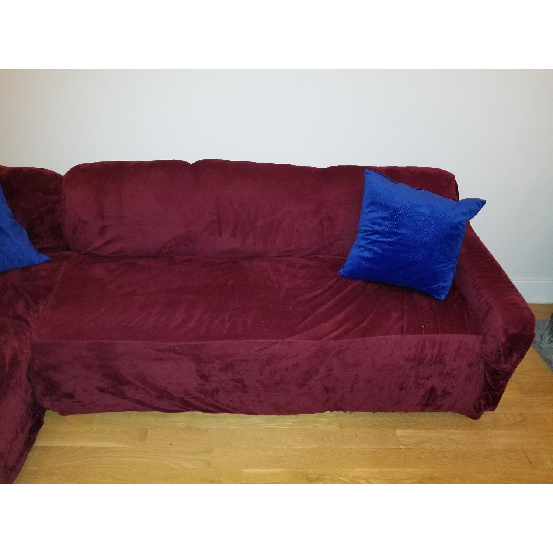 Charlton Home Left Facing Sectional Sofa & Ottoman