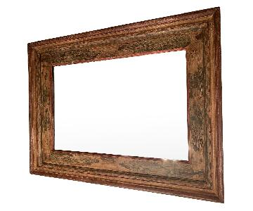 Pottery Barn Mirror w/ Painted Wooden Frame