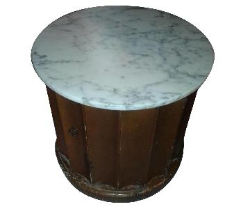 Hickory Chair Marble Drum Table