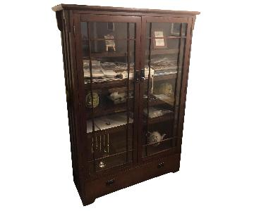 Wood Bookcase/Display Cabinet