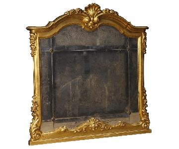20th Century 1960 Gilt Wood & Plaster Italian Mirror
