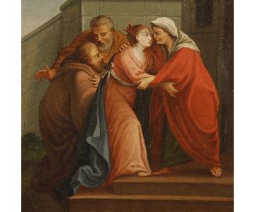 18th Century 1780 Oil on Canvas Italian Religious Painting