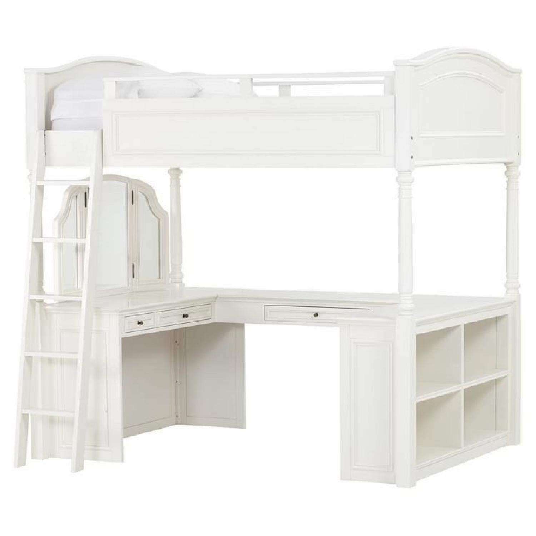 Pottery Barn Teen Chelsea Vanity Full Size Loft Bed Aptdeco