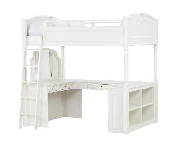 Pottery Barn Teen Chelsea Vanity Full Size Loft Bed