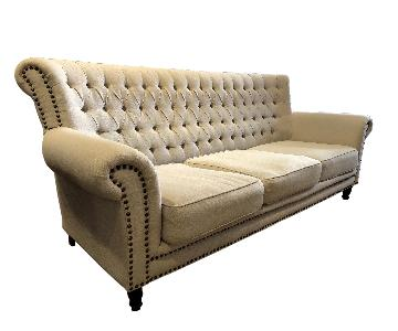 ABC Carpet and Home Tufted Sofa