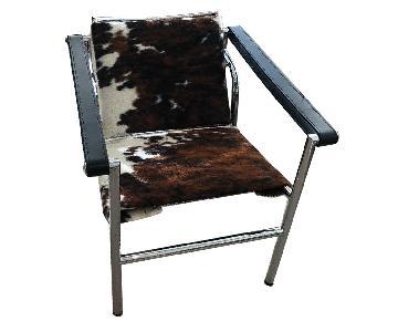 Le Corbusier Sling Armchair LC1 Replica in Cowhide