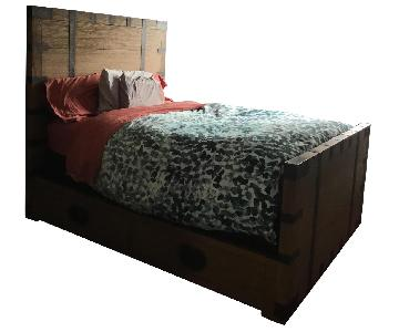 Restoration Hardware Heirloom Platform Storage Bed