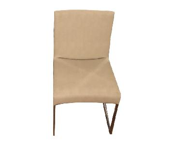 B&B Italia Leather Solo Dining Chairs