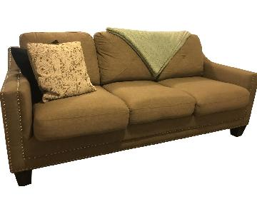 Bob's 3-Seater Tan Sofa