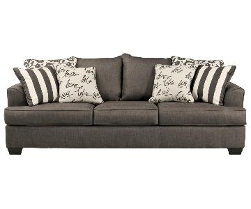 Ashley Signature Design Levon Charcoal Stationary Sofa