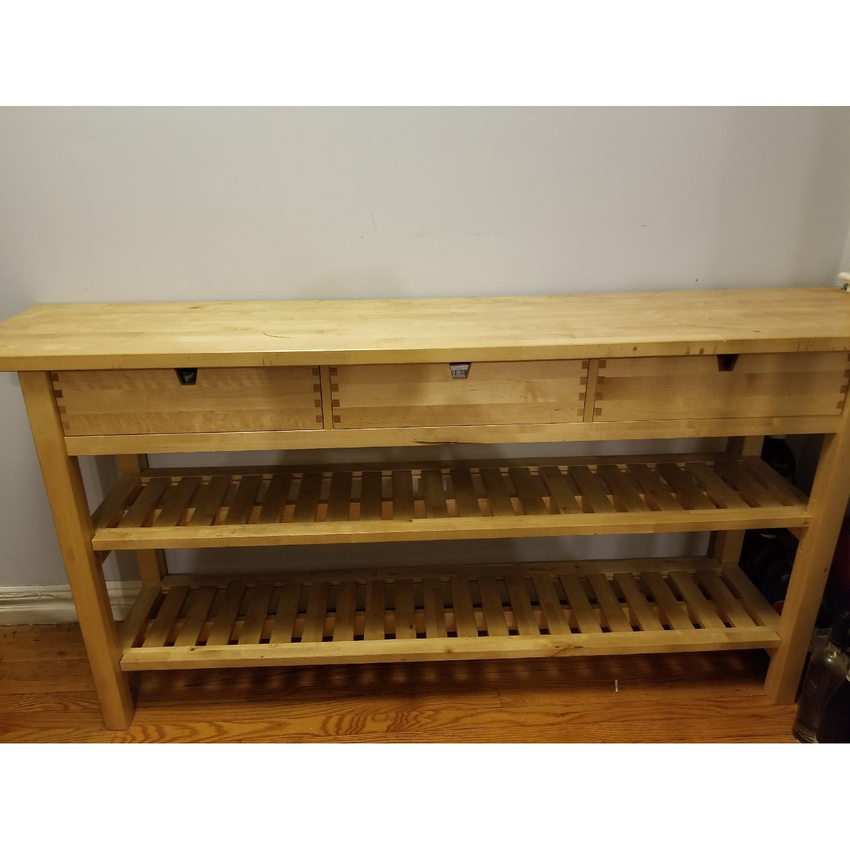 ikea sideboard w/ drawers & shelves - aptdeco
