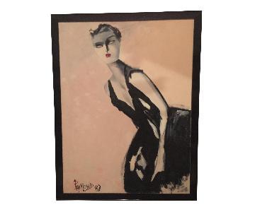Madame X Portrait Original Painting