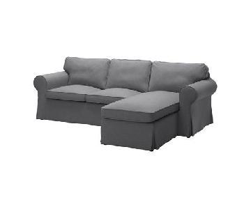 Ikea Ektorp Sectional Sofa in Dark Grey