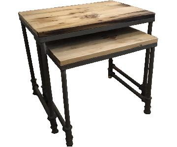 ABC Carpet and Home Wood & Metal Side Tables