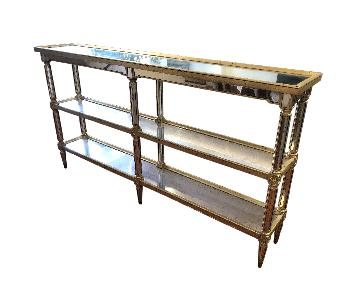 ABC Carpet and Home Mirror Gold Trim Table