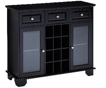 Kings Brand Buffet/Sideboard w/ Wine Storage