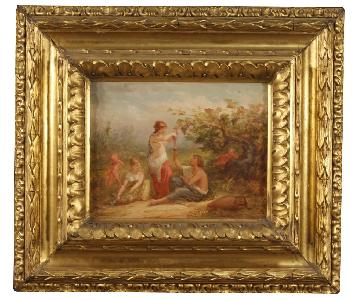 19th Century Antique French Signed Painting