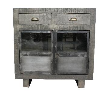 Bailey Wooden Grey Cabinet