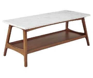 West Elm Reeve Mid Century Marble Side Table