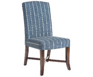 One Kings Lane Mercer Blue Stripe Side Chairs