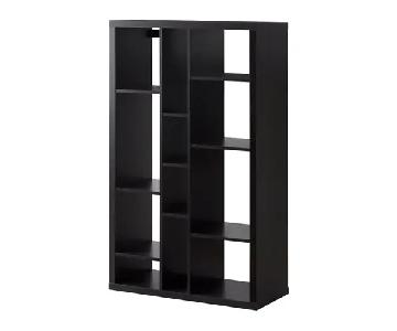 Ikea Kallax Black Shelving Unit