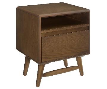 Manhattan Home Design Wood Nightstand In Chestnut
