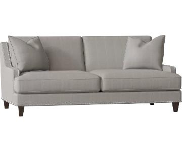Paidge Grey Nailhead Sofa