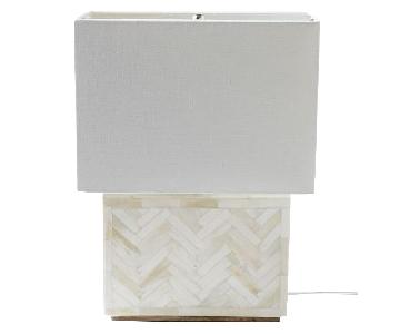 West Elm Parsons Chevron Bone Table Lamp
