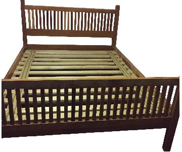 Room & Board Cherry Wood Full Size Bed Frame