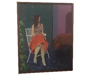 Portrait of a Woman in a Garden