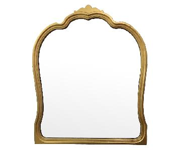 Hand Painted Gold Mirror